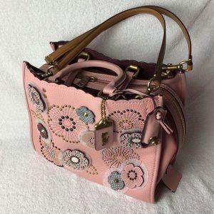 NWT-Coach Rouge snakeskin Tea Rose Riverts-satchel